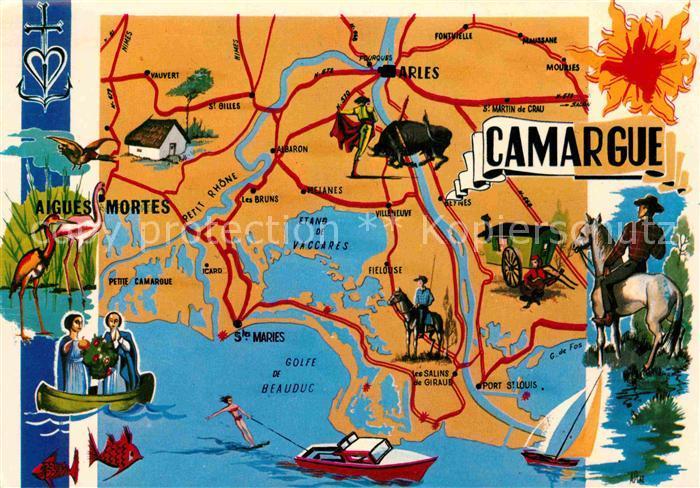 AK / Ansichtskarte Camargue Plan Touristique