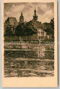 AK / Ansichtskarte Heilbronn Neckar Partie am Neckar Kat. Heilbronn