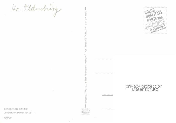 AK / Ansichtskarte Dahme Ostseebad Leuchtturm Dameshoeved Kat. Dahme 1