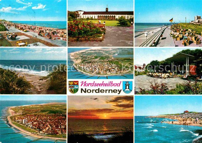 AK / Ansichtskarte Norderney Nordseebad Strand Promenade Teilansichten Fliegeraufnahmen Kat. Norderney
