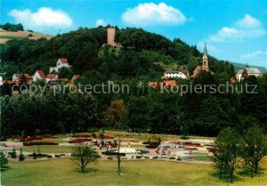 AK / Ansichtskarte Bad Soden Salmuenster Neuer Kurpark mit Stolzenberg Ruine Kat. Bad Soden Salmuenster