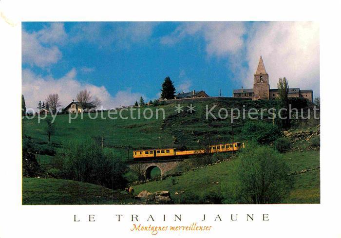 AK / Ansichtskarte Eisenbahn Train Jaune Cerdagne  Kat. Eisenbahn