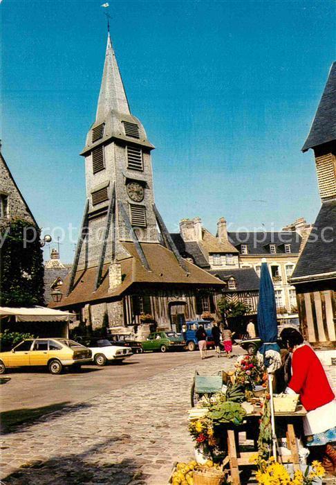 AK / Ansichtskarte Honfleur Dans la vieille le clocher de l eglise Sainte Catherine Kat. Honfleur