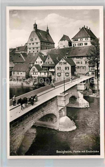 AK / Ansichtskarte Besigheim Partie mit Enzbruecke Kat. Besigheim