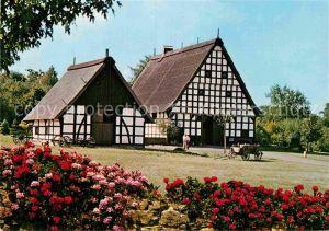 AK / Ansichtskarte Bad Oeynhausen Heimatmuseum im neuen Kurpark Fachwerkhaeuser Kat. Bad Oeynhausen
