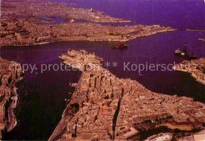 AK / Ansichtskarte Valletta Malta Hafen Fliegeraufnahme Kat. Malta
