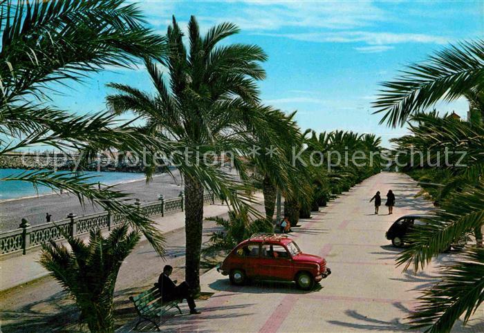 AK / Ansichtskarte Vinaroz Promenade Palmenallee Kat. Vinaroz