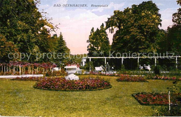 AK / Ansichtskarte Bad Oeynhausen Rosenplatz Kat. Bad Oeynhausen