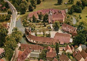 AK / Ansichtskarte Burgsteinfurt Schloss mit Vorhof Fliegeraufnahme Kat. Steinfurt