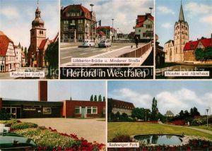 AK / Ansichtskarte Herford Radewiger Kirche und Park Muenster Abteihaus  Kat. Herford