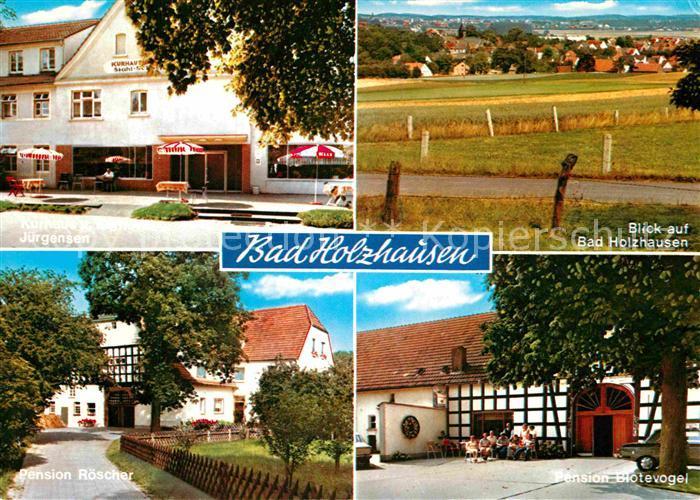 Ak Ansichtskarte Bad Holzhausen Luebbecke Pension Roescher Und