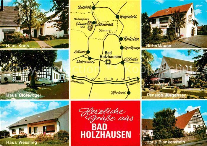 Ak Ansichtskarte Bad Holzhausen Luebbecke Ritterklause Pensio