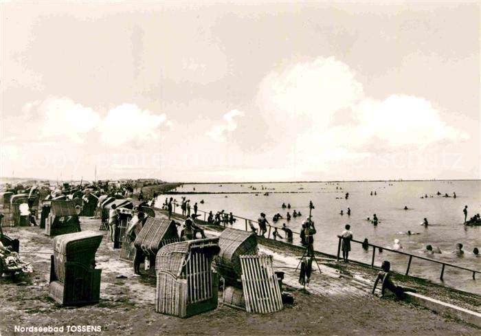 AK / Ansichtskarte Tossens Nordseebad Strandleben Kat. Butjadingen