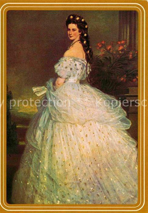 AK / Ansichtskarte Adel oesterreich Kaiserin Elisabeth Gemaelde von F. X. Winterhalter  Kat. Koenigshaeuser