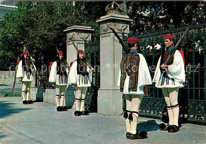 AK / Ansichtskarte Leibgarde Wache Athen Evzonen  Kat. Polizei