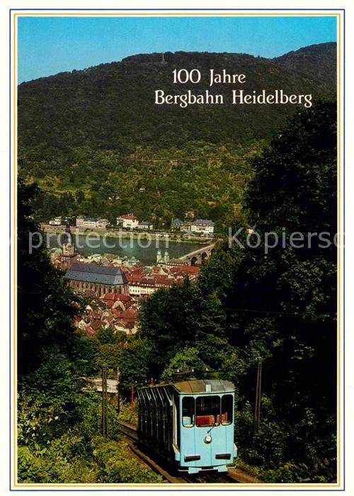 AK / Ansichtskarte Bergbahn 100 Jahre Bergbahn Heidelberg Kat. Bergbahn