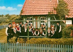AK / Ansichtskarte Trachten Heimatverein Norderney e.V. Fischertrachten um 1850 Fischerhaus Museum Kat. Trachten