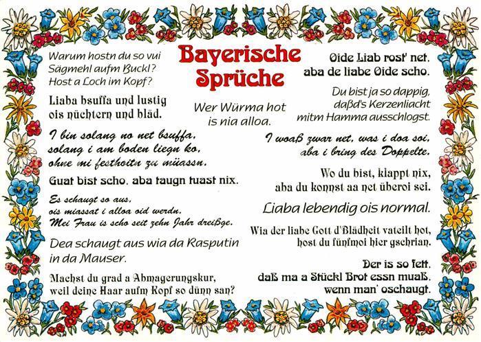 AK / Ansichtskarte Humor Bayerische Sprueche  Kat. Humor