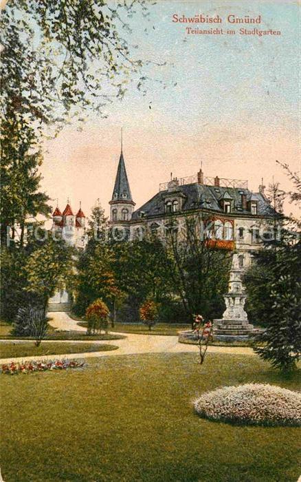 AK / Ansichtskarte Schwaebisch Gmuend Partie im Stadtgarten Kat. Schwaebisch Gmuend