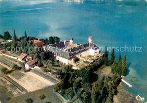 AK / Ansichtskarte Hautecombe Abbaye et Lac du Bourget Kloster Fliegeraufnahme Kat. Saint Pierre de Curtille