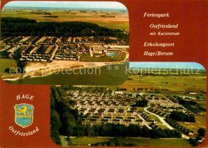 AK / Ansichtskarte Hage Ostfriesland Fliegeraufnahmen Kat. Hage