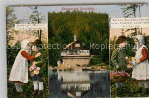 AK / Ansichtskarte Ebnisee mit Lisabethle im Welzheimer Wald Gretle und Hannesle