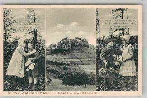 AK / Ansichtskarte Welzheim Schloss Ebersberg mit Lisabethle Gretle und Hannesle Kat. Welzheim