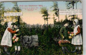 AK / Ansichtskarte Welzheim Kesselgrotte mit Gretle und Hannesle Kat. Welzheim