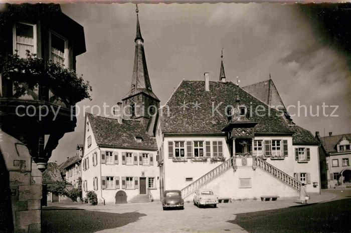 AK / Ansichtskarte Deidesheim Rathaus Kirche Kat. Deidesheim