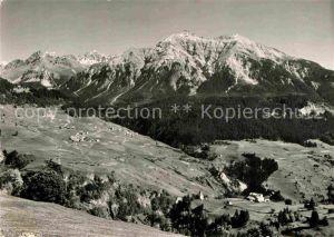 AK / Ansichtskarte Lain GR Panorama mit Zorten Muldain Solis Lenzerhorn Alpen