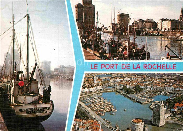 AK / Ansichtskarte La Rochelle Charente Maritime Port Bateau Tours St Nicolas Tour de la Chaine tour de la Lanterne Kat. La Rochelle