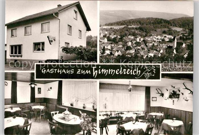 AK / Ansichtskarte Mueckenloch Gasthaus Pension Zum Himmelreich Speisesaal Panorama Kat. Neckargemuend