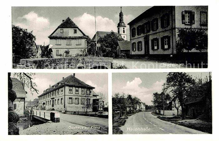 AK / Ansichtskarte Hugsweier Gasthaus zur Krone Hauptstrasse Kat. Lahr
