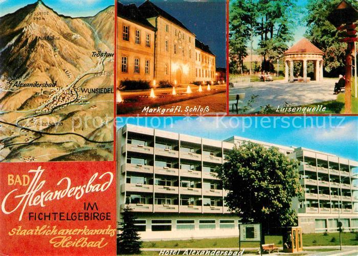 AK / Ansichtskarte Bad Alexandersbad Markgraefliches Schloss Luisenquelle Hotel Heilbad Fichtelgebirge Kat. Bad Alexandersbad