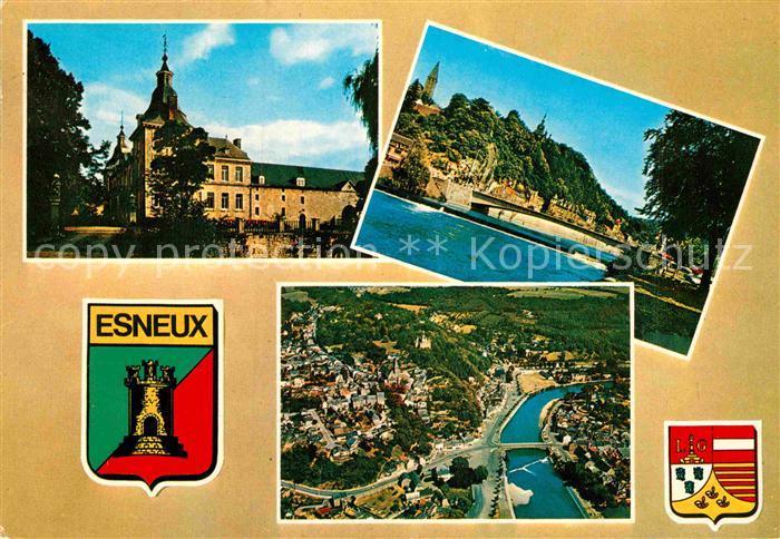 AK / Ansichtskarte Esneux Kirche Partie am Fluss Fliegeraufnahme Kat.