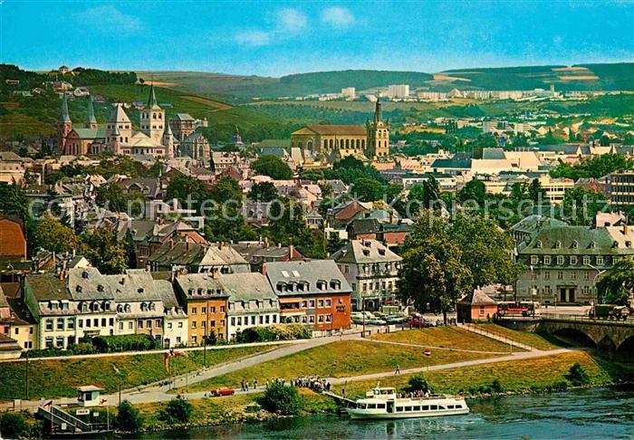AK / Ansichtskarte Trier Stadtpanorama Blick uebe die Mosel Kat. Trier