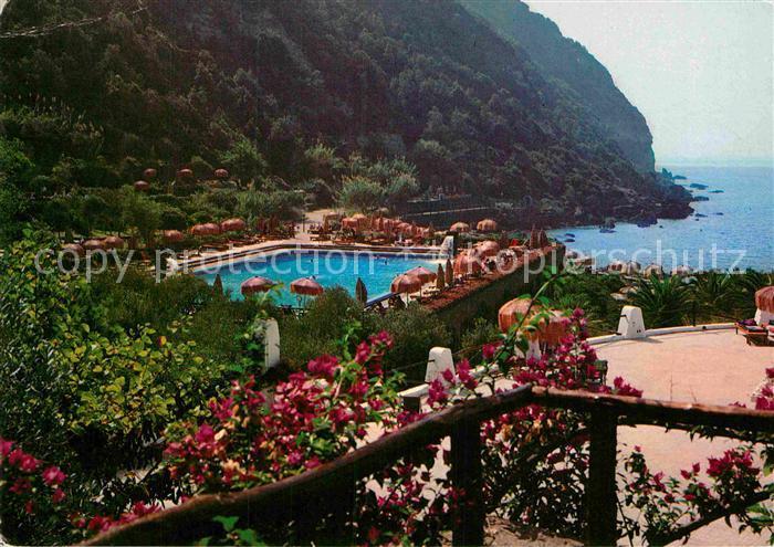 Ischia italien thermenhotel der giardini poseidon stockfoto bild