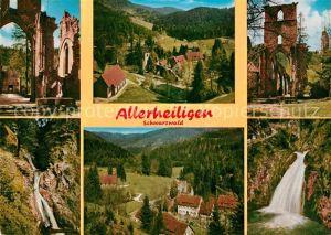 AK / Ansichtskarte Allerheiligen Oppenau Ruine Wasserfall Landschaftspanorama Schwarzwald Kat. Oppenau