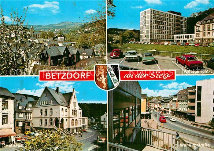 AK / Ansichtskarte Betzdorf Sieg Stadtpanorama Amtsgericht Wilhelmstrasse Rathaus Kat. Betzdorf