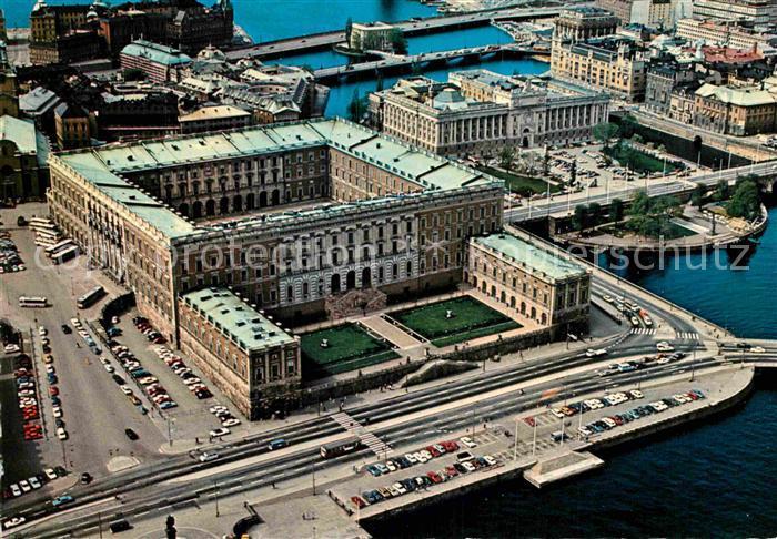 AK / Ansichtskarte Stockholm Royal Palace aerial view Kat. Stockholm