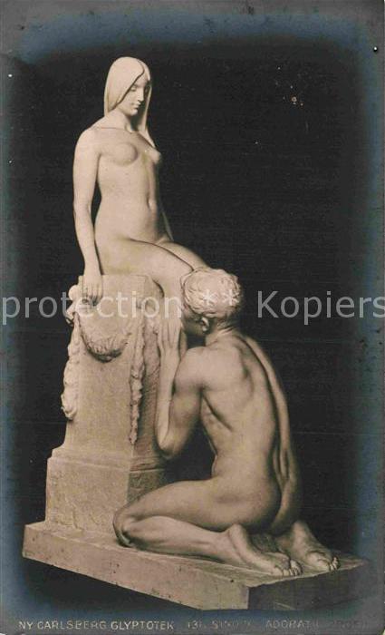 AK / Ansichtskarte Skulpturen Sinding Adoratio Ny Carlsberg Glyptotek Kat. Skulpturen