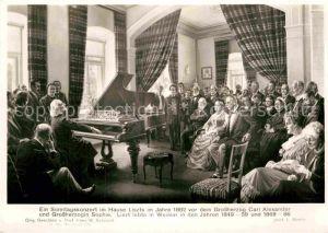 AK / Ansichtskarte Liszt Franz Komponist Sonntagskonzert Haus Liszt Jahr 1882 Grossherzog Carl Alexander Grossherzogin Sophie  Kat. Musik