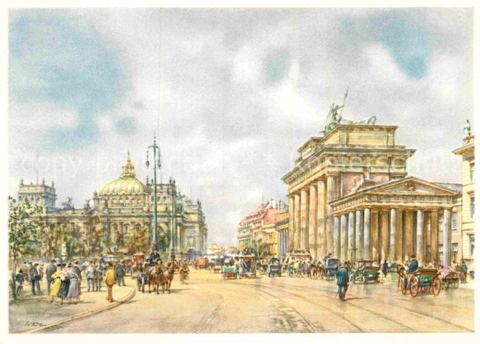 AK / Ansichtskarte Kuenstlerkarte Wolfgang Tritt Berlin Brandenburger Tor  Kat. Kuenstlerkarte