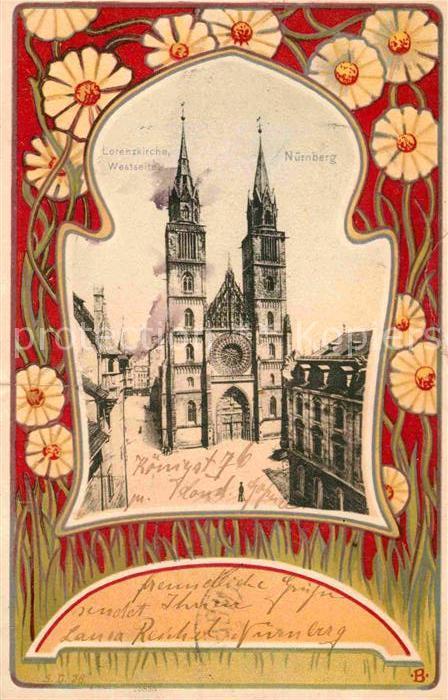AK / Ansichtskarte Nuernberg Lorenzkirche  Kat. Nuernberg