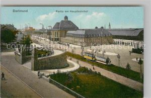 AK / Ansichtskarte Dortmund Hauptbahnhof mit Vehmlinde Bastei Kat. Dortmund