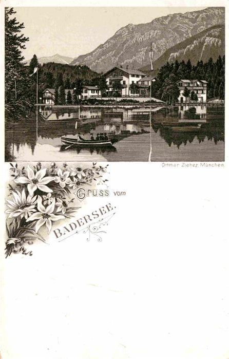 AK / Ansichtskarte Badersee Kuenstlerkarte Ottmar Zieher  Kat. Grainau