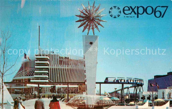 AK / Ansichtskarte Exposition Universelle Internationale Montreal 1967 Pavillon de la France