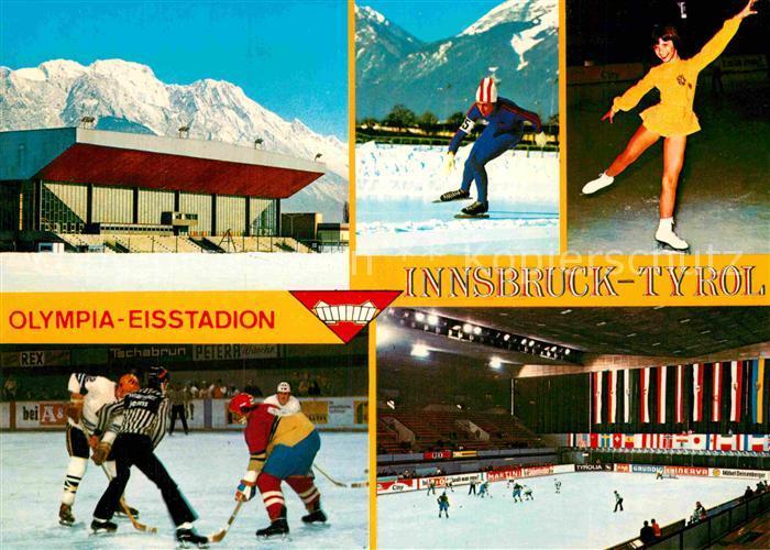 AK / Ansichtskarte Stadion Olympia Eisstadion Innsbruck Olympische Winterspiele  Kat. Sport
