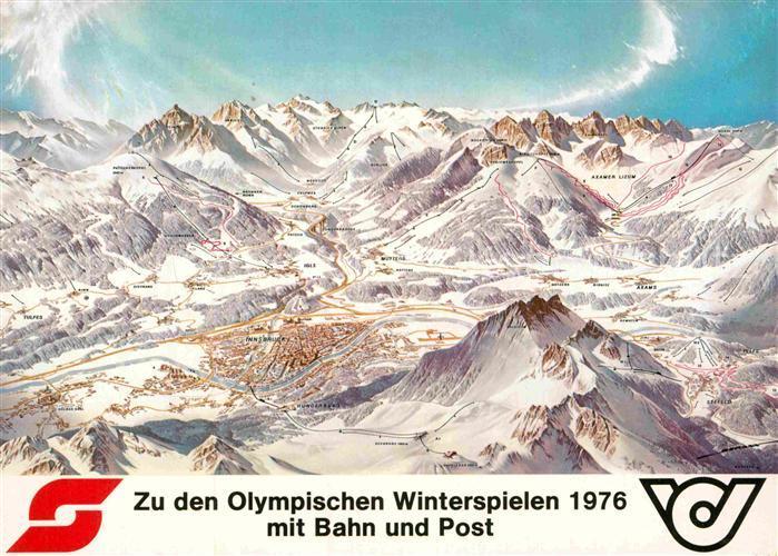 AK / Ansichtskarte Olympia XII. Olympische Winterspiele Innsbruck Panoramakarte  Kat. Sport