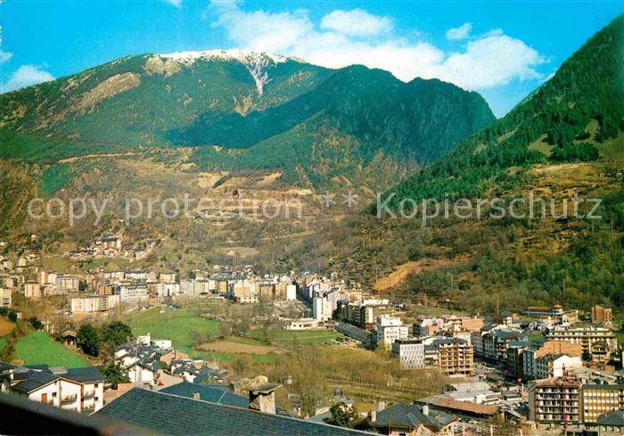 AK / Ansichtskarte Andorra La Vella Fliegeraufnahme Kat. Andorra La Vella